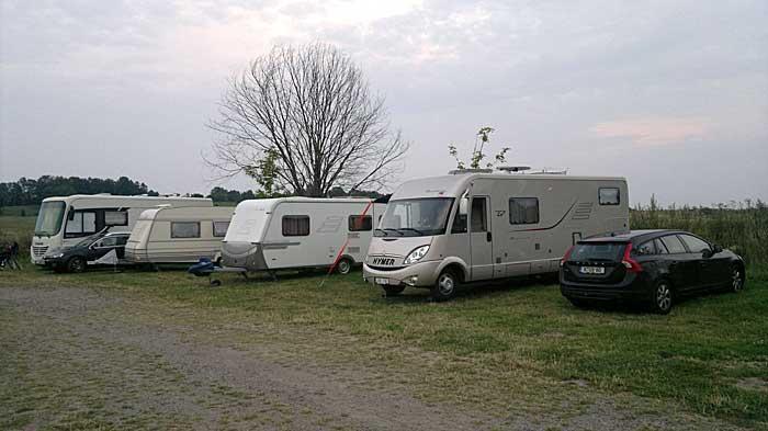 Campingvogn parkeringsplass
