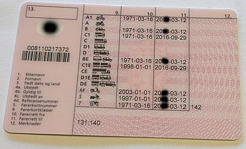 førerkort klasse b gyldighet