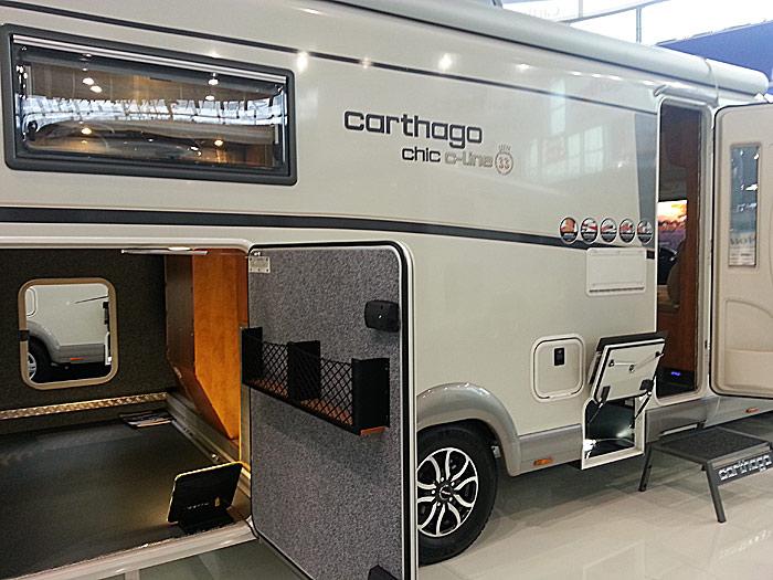 Carthago chic c-line I 4.9 er en av modllene som har kommet i 2013 med 33-års jubileumsdeign og utstyr. Foto: Knut Randem.