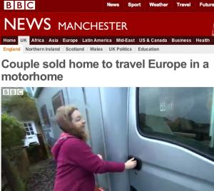 Faksimile av BBCs hjemmeside.