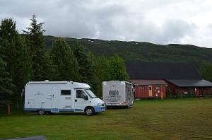 Haugen bobilcamping i Trofors. Foto: Yngvar Halvorsen og Merete Furustad
