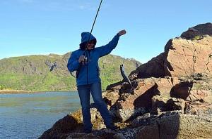 Noe fisk ble det. Foto: Yngvar Halvorsen og Merete Furustad