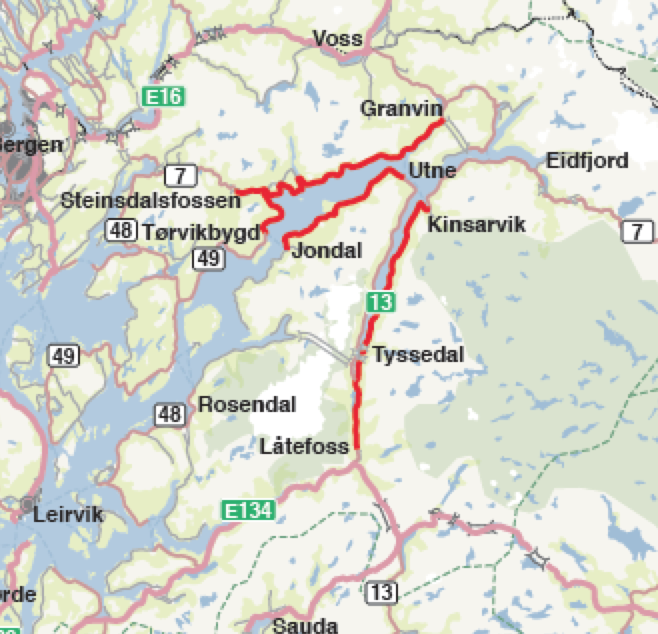 kart hardangerfjorden Hardanger på kryss og tvers med bobil | Bobilverden.no kart hardangerfjorden