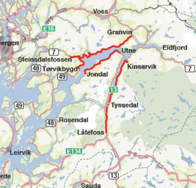 kart granvin Hardanger på kryss og tvers med bobil | Bobilverden.no kart granvin