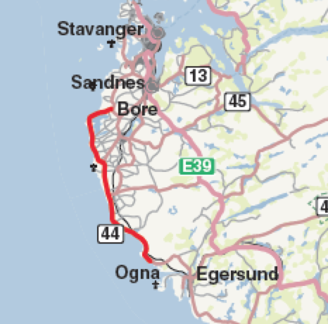 kart over jæren I bobil over kulturlandskapet på Jæren | Bobilverden.no kart over jæren