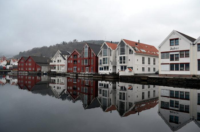 Flekkefjord. Foto: Yngvar Halvorsen.