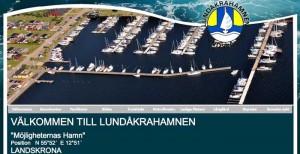 Faksimile av Lundåkrahamnens hjemmeside.