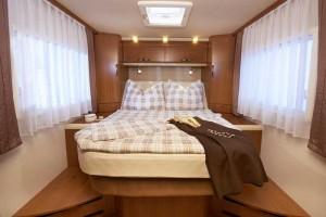 Eura Integra Liner LS leveres med flere sengeløsninger. Foto: Eura Mobil.