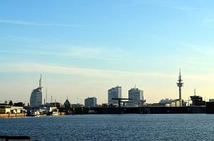 Bremerhavens skyline. Foto: Yngvar Halvorsen.
