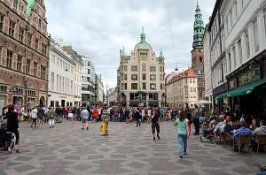 På Strøget i København. Foto: Yngvar Halvorsen.