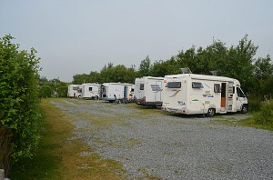 Campingplassen i Husm har orden på plassene. Foto: Yngvar Halvorsen.