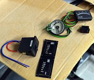 Man kan montere flere typer styringsinstrumenter inne i bobilen. Foto: Yngvar Halvorsen.