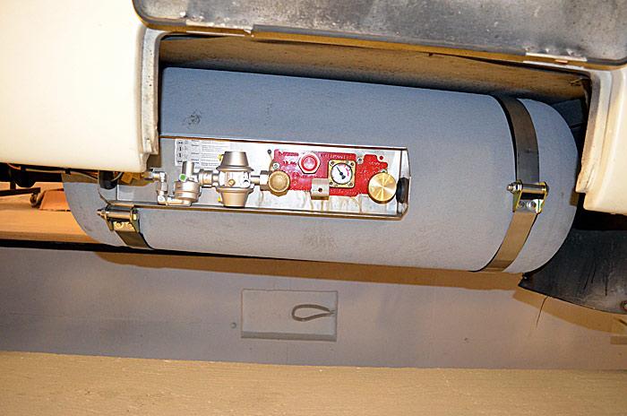 Montering av gasstank i bobil