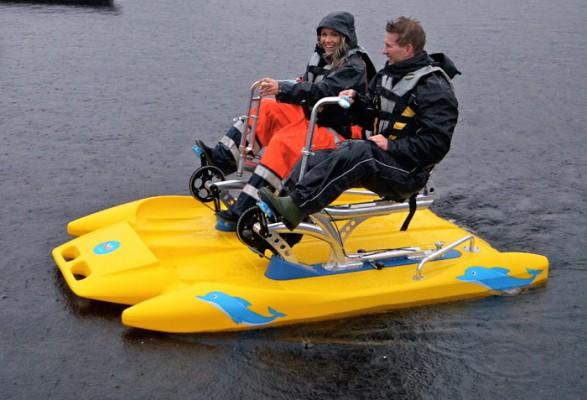 Den gammeldagse pedalbåten i ny utgave passer nok best for deg med tilhenger på bobilen. Foto: Wee Caravan System.