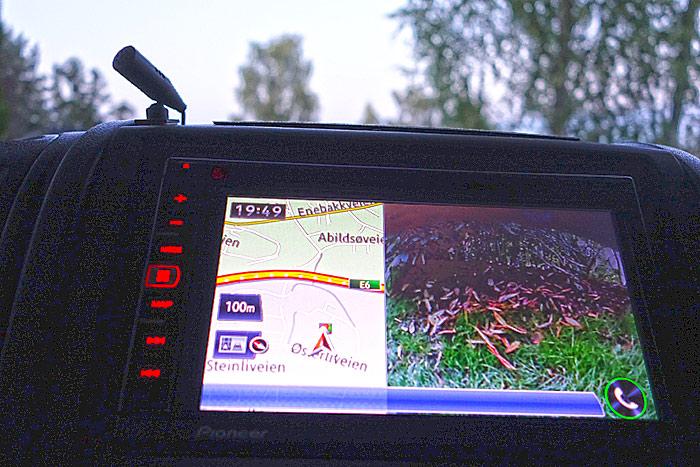 """Pioneer holder orden på ryggekamera, navigasjon, radio og mye annet. Dette er vår """"gamle"""" modell. Foto: Knut Randem."""