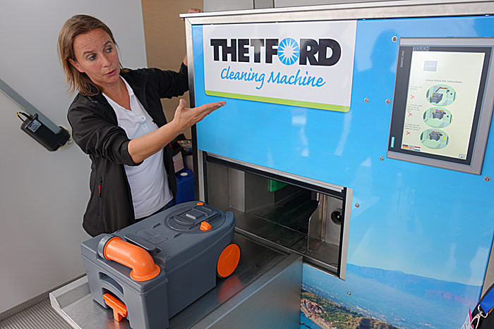 Thetfords tømmemaskin. Løser den et problem du har? Foto: Knut Randem.