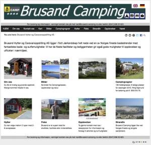 Brusand camping stenger portene for bobiler. Faksimile: Brusands hjemmeside.