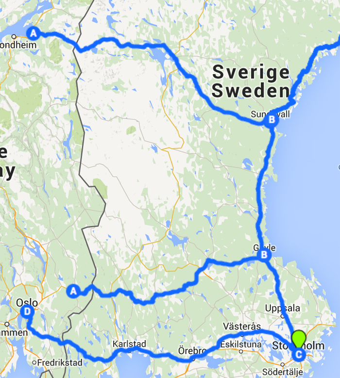 kart over campingplasser sverige Skandinavia på tvers | Bobilverden.no kart over campingplasser sverige