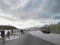Ombyggingen av Skreda tar sikte på å forsterke naturopplevelsen av landskapet rundt Offersøystraumen og Nappstraumen.