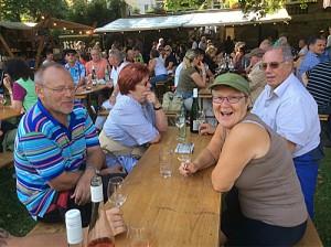 På vinfestival i Bernkastel-Kues.