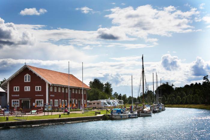 Borensberg bobilplass ved Göta kanal. Foto: Göta kanalbolag AB.