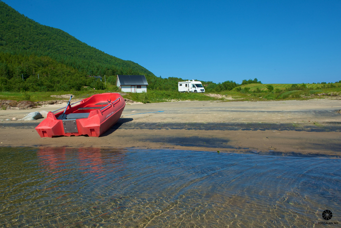På Åmnøya kan du finne slike plasser. Foto: Alan Billyeald.