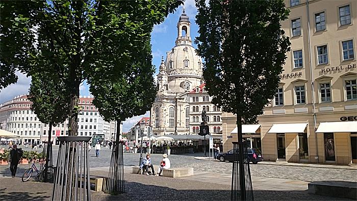 Dresdens Frauenkiche stod ferdig gjenoppbygget først i 2005. Foto: Knut Randem.