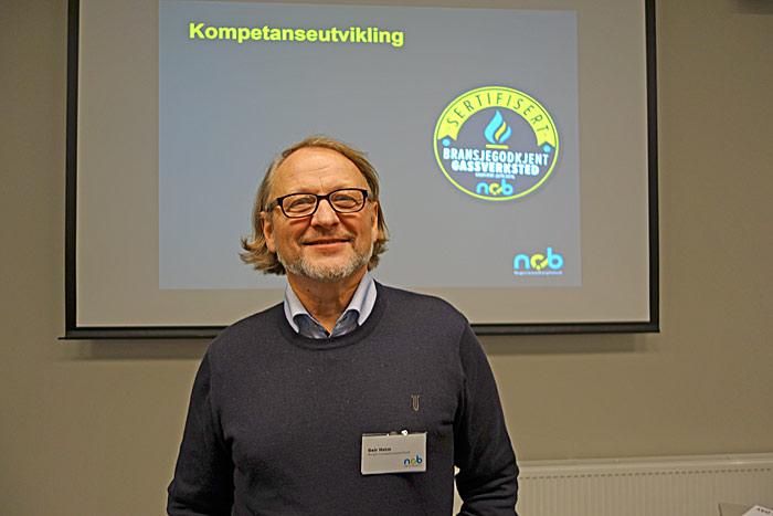 Generalsekretær Geir Holm forteller at NCB kjører to løp for bedre bransjeutdanning. Foto: Knut Randem.