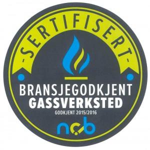 Deltakerne på gasskursene kan pryde sine bedrifter med dette merket.