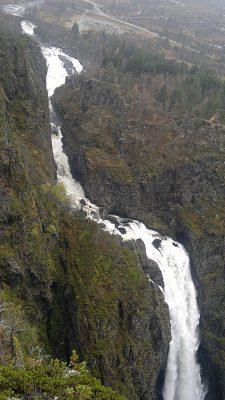 Ved og over Vøringsfossen arbeides det med å utvikle spektakulære utsiktspunkter. Foto: Knut Randem.