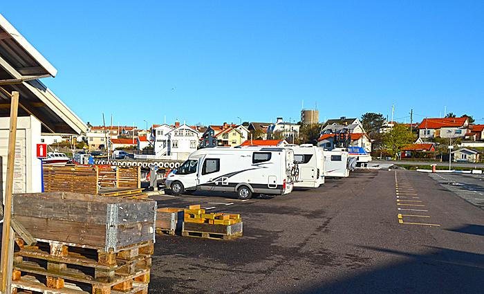 Bobilparkering på Hønø Klåva. Foto: Yngvar Halvorsen.