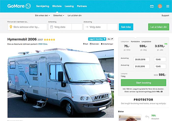 campingbiler til leie privat