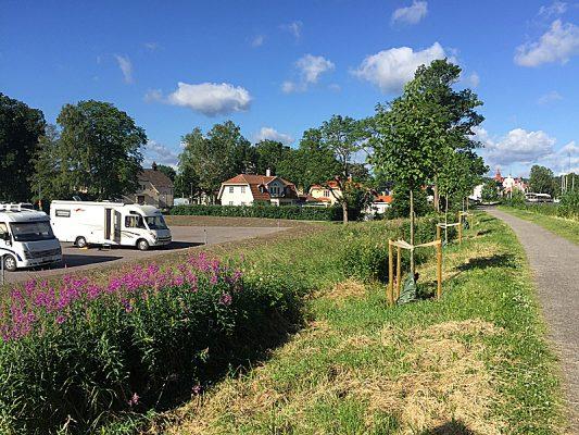 Oppdatert: Bobilplassen i Söderköping åpnet til midtsommer. Foto: Kanalbolaget.