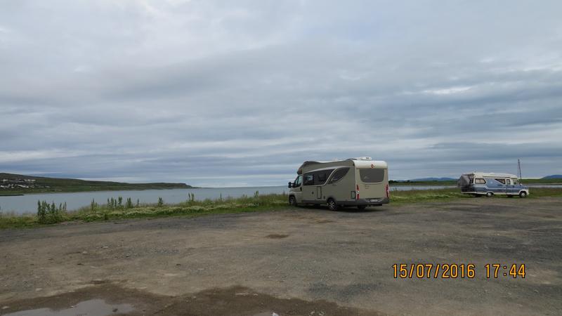 Utsikt over Varangerfjorden fra Vadsø.