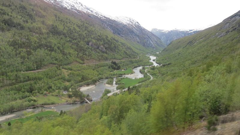 Utsikt fra Raumabanen.