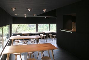 Servering og utsikt over Allmannajuvet. Foto: Atelier Peter Zumthor & partner.