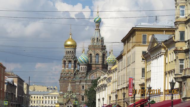 Byvandring i St Petersburg.