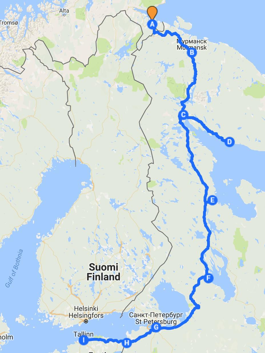 kirkenes kart Fra Kirkenes til St Petersburg i bobil | Bobilverden.no kirkenes kart