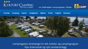 Det må investeres for å ta i mot økende kundegrupper. Faksimile av hjemmeside for Kviltorp camping.
