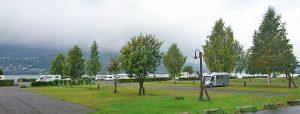 Campingplasser opplever at bobilene er i flertall hele året. Her fra Lillehammer camping. Foto: Knut Randem.