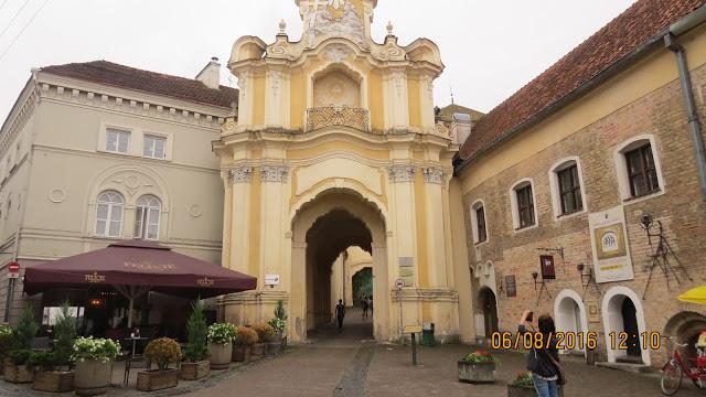 Deler av bymuren i Vilnius.